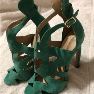 Zara basic teal high heals
